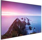 Nugget Point Nieuw-Zeeland Aluminium 120x80 cm - Foto print op Aluminium (metaal wanddecoratie)