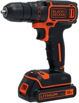 BLACK+DECKER 18V Schroef-/boormachine BDCDC18 - incl. 1 accu en lader