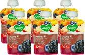 Olvarit Knijpzakje 12m866 Bosvruchten fruit Yoghurt - 6x90 gram - voordeelverpakking