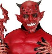 """""""Duivel masker met hoorntjes voor volwassenen Halloween  - Verkleedmasker - One size"""""""