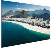 FotoCadeau.nl - Copacabana strand Rio de Janeiro Aluminium 60x40 cm - Foto print op Aluminium (metaal wanddecoratie)