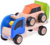 Houten speelgoedvoertuig Autotrailer