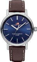 River Woods RW420030 Hudson horloge Heren - Bruin - Leer 42 mm