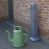 Waterzuil met kraan en aansluiting - grijs