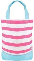 Yello Strandtas Canvas Wit/roze 52 X 42 X 16 Cm