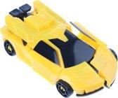 Eddy Toys Robot Transformer Car Geel 10 Cm