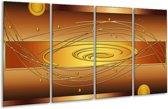 Glasschilderij Modern | Geel, Oranje, Bruin | 160x80cm 4Luik | Foto print op Glas |  F004855
