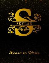 Skylar Learn to Write