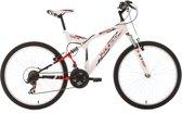 Ks Cycling Mountainbike 26 inch fully-mountainbike Zodiac met 21 versnellingen wit-rood - 48 cm