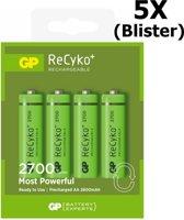 20 Stuks (5 Blisters a 4st) - GP Recyko+ 2700 Series AA/HR06 2600mah 1.2V NiMH Oplaadbare Batterijen