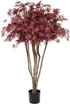 Acer deluxe kunstboom op stam 130 cm burgundy