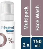 Neutral 0% Face Wash Lotion Parfumvrij - 2 x 150 ml - Voordeelverpakking