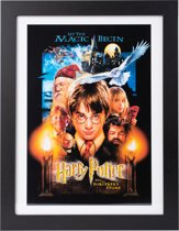 Poster Harry Potter and the Sorcerer's Stone ingelijst 30x40cm.
