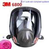 2in1 suite 3M 6800 Volgelaatsmasker Gasmasker veil