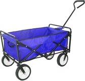 Bolderkar Blauw opvouwbaar Handwagen Bolderwagen