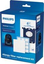 Philips FC8074/02 - Vervangingsset met 1x allergiefilter en 1x motorinvoerfilter