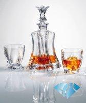 Kristallen whisky set Floral 1+6