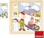 Goula Winterpuzzel Houten Puzzel 16 Stukjes