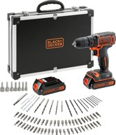 BLACK+DECKER BDCDC18BAFC-QW Accuboormachine kit - 18V