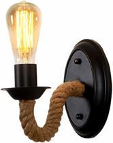 Industriële Wandlamp - Vintage Wand Lamp - Muurlamp Touw Industrieel - Binnen Verlichting - E27