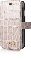 Guess booklet tasje Croco - beige - voor Apple iPhone 7;Apple iPhone 8