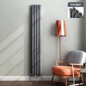 Dubbele Designradiator Ember Premium Verticaal Antraciet Ovaal - 180 x 24 cm