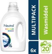 Neutral 0% Parfumvrije Wasmiddel Kleur - 120 wasbeurten - 6 x 1 l