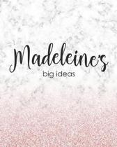 Madeleine's Big Ideas: Personalized Notebook - 8x10 Lined Women's Journal