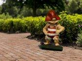 Willbert beeldje voor in de tuin of binnenshuis - surfende Willbert