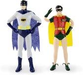 DC Comics - Batman en Robin - Buigbare en poseerbare figuren - 15 cm en 13 cm