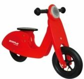 Simply Houten Loopfiets scooter - Rood