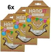 HangIt slingerklemmen 6x, voor ophangen slingers e.d.