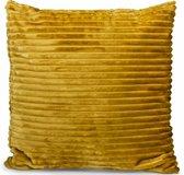 Lanterfant® Sierkussen Iris - Ribfluweel - Corduroy - Oker
