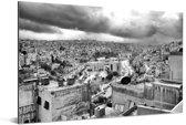 Zwart wit afbeelding van Amman Aluminium 120x80 cm - Foto print op Aluminium (metaal wanddecoratie)