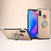 Mobigear Magnetic Ring Holder Hoesje Goud Xiaomi Mi A2 Lite