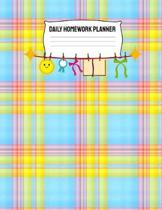 Daily Homework Planner: Monthly School Calendar and Homework Organizer Elementary, Middle and High School Academic Notebook