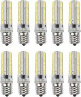 Dimbaar E17 7Watts 152LED 3014 SMD 600-700 LM warm wit koel wit silicone lamp LED maïs lampen AC 220-240V AC 110-130V (10ST) (kleur: 110V grootte: koud wit)