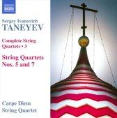 Taneyev: String Quartets 3