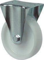 Kelfort Bokwiel polyamide wiel met rollager, wit 125kg 100mm (Prijs per 2 stuks)