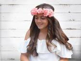 Jessidress Luxe Ibiza Haarband Hoofdband Haarbloemen - Roze