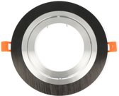 LED line Inbouwspot - Rond - Kantelbaar - Aluminium - AR111 Fitting - Zwart Mat