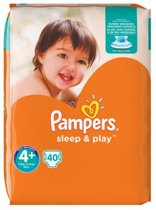 pampers Sleep & Play maat 4+ (9-18 kg) 40 luiers