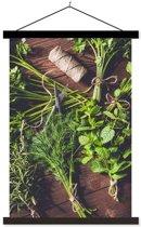 Schoolplaat Green Herbs - 60xH90 cm