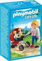 PLAYMOBIL Tweeling kinderwagen - 5573