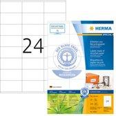 Herma Etiketten Recycling 70x36 100 Bl. DIN A4 2400 stuks 10823