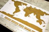 Wereldkaart kraskaart scratchmap - Kras bezochte bestemmingen weg - 88 x 52 cm - Kras wereld kaart