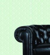Dutch Wallcoverings Vlakvinylbehang barok -groen/beige