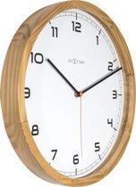 NeXtime Company Wood - Klok - Rond - Ø35 cm - Licht houtkleurig