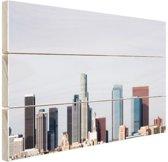 FotoCadeau.nl - Downtown Los Angeles skyline Hout 120x80 cm - Foto print op Hout (Wanddecoratie)