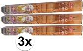 3x pakje wierook Lucky Buddha